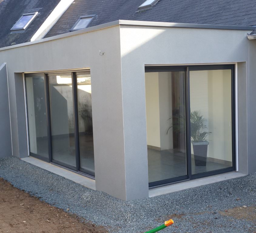 Extension maison beton perfect extension maison beton for Extension parpaing
