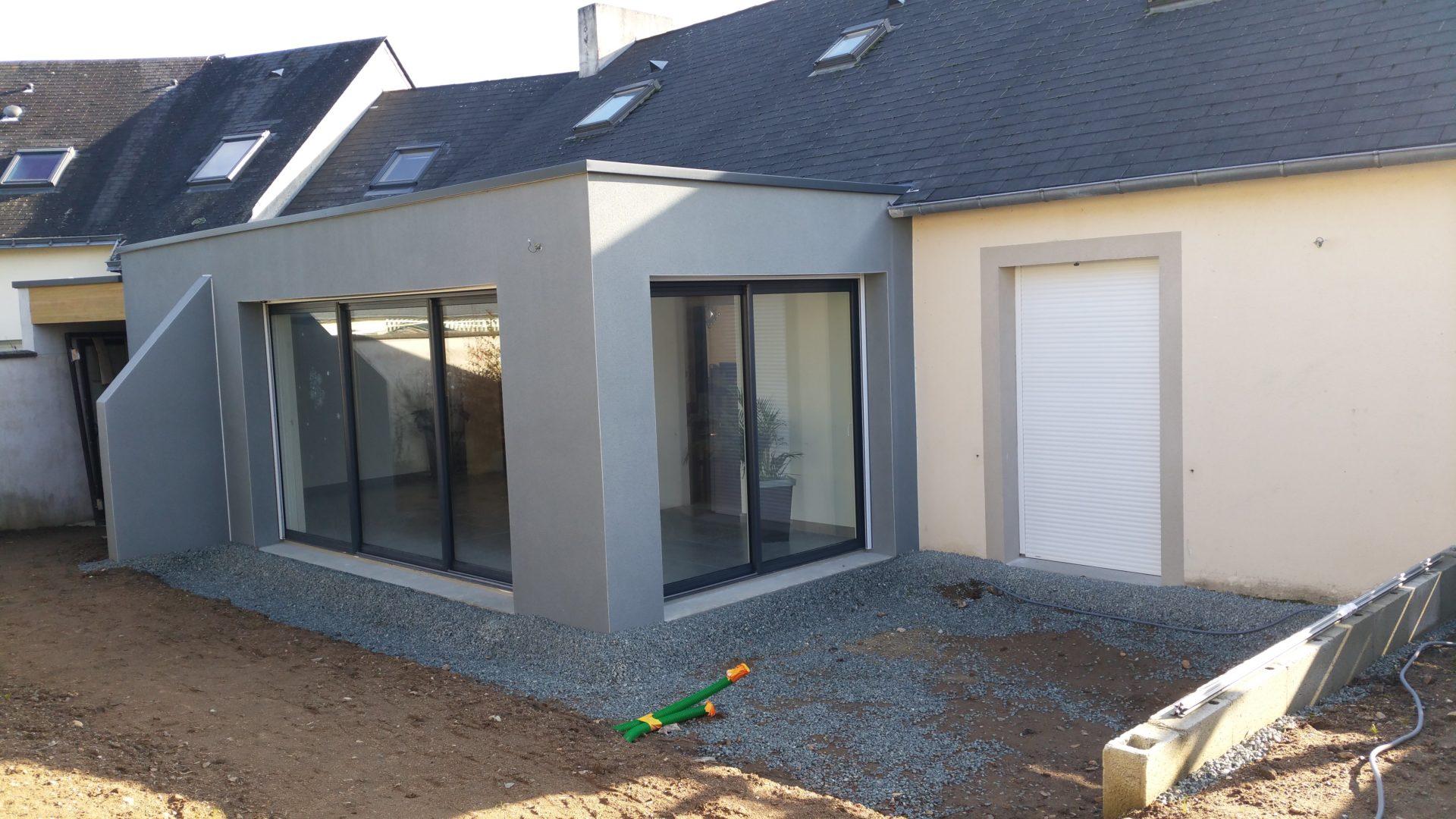 Enduit facade parpaing good enduit interieur sur parpaing for Extension parpaing