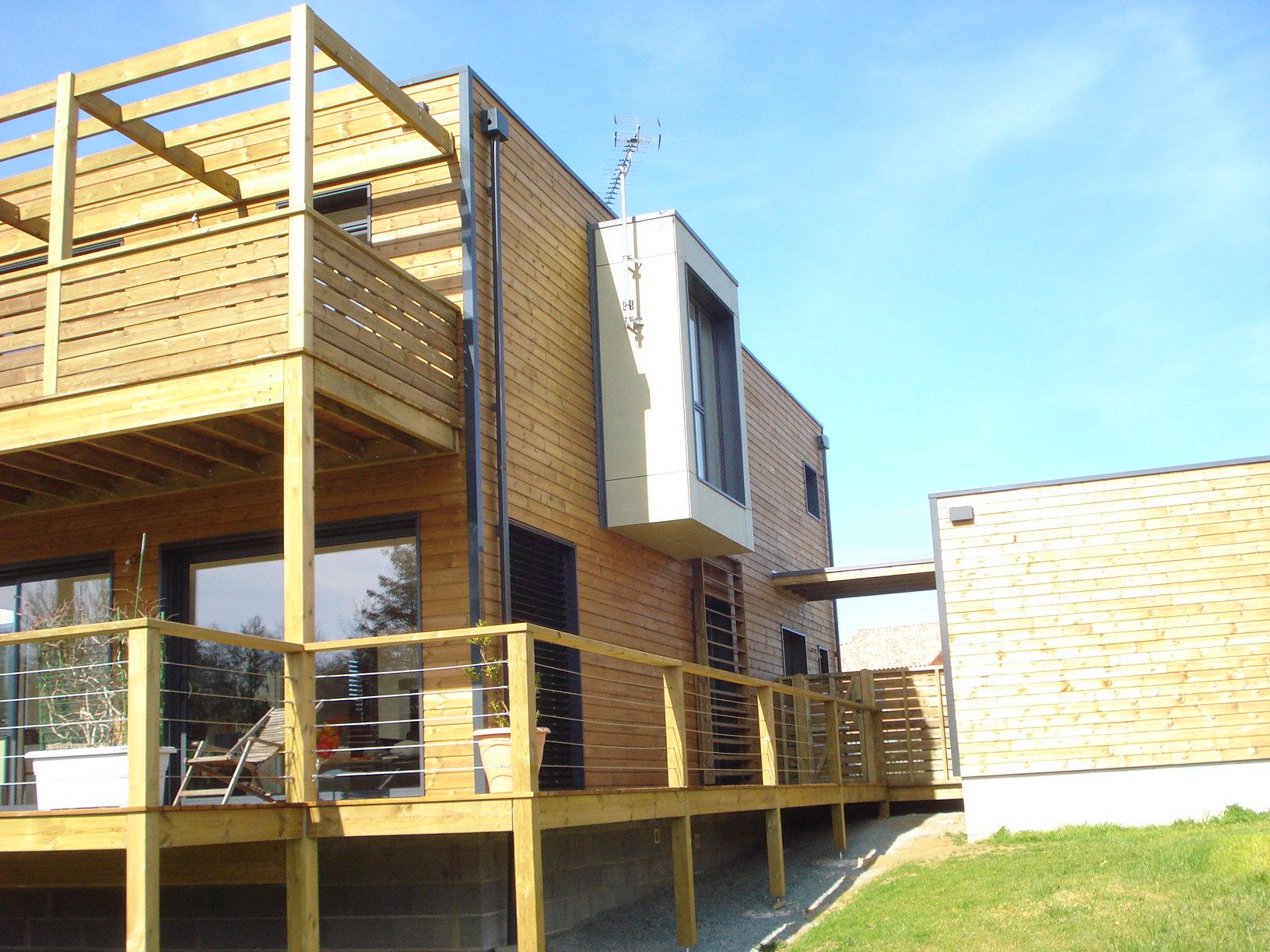 maison et extension bois dans le nord vendée - ma maison acv