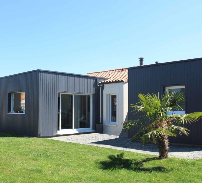Extension bois de 25 m² aux Herbiers (Vendée, 85)